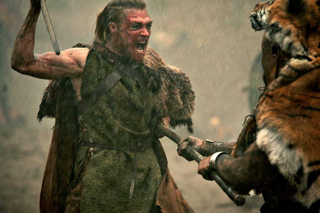 Barbares - Folkwin contre un tigre